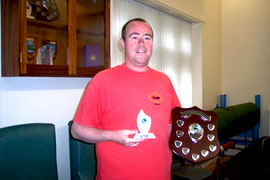 James Byers with his award for the most supportive CLASP Member