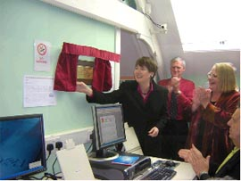 Reopening of Computer Suite by Harriet Harman  MP